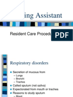 Nursing Assistant - Procedures