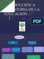 Introducion a La Historia de La Educacion