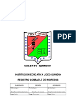 Registro Contable de Ingresos