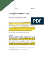 _Developing Capacity of Change Meyer