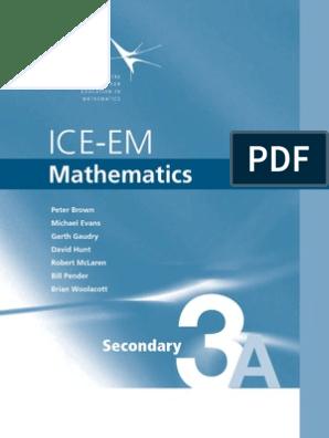 ICE-EM mathematics_Sec_3A pdf | Fraction (Mathematics