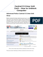 Police Central E-Crime Unit Virus (PCeU) – How to Unblock Computer