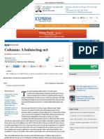 Column_ a Balancing Act - Financial Express