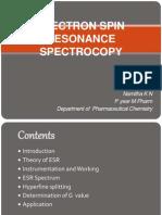 ELECTRON SPIN RESONANCE SPECTROCOPY.ppt