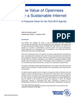 The Value of Openness for a Sustainable Internet
