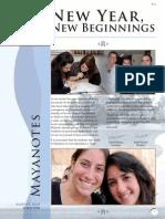 Mayanotes Rosh Hashannah Edition August 2010| Elul 5770