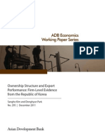Ownership Structure and Export Performance