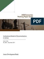Institutional Model of Decentralization in Action