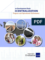 Corporate Evaluation Study on ADB's Decentralization
