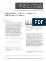Information Choice of Treatment and Informed Consent