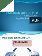 Pemilihan Uji Statistik@2013