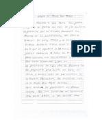 Carta enviada desde penal San Jorge por Miguel Facundo Chinguel