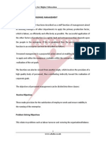The Objectives of Personnel Management