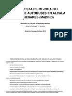 Propuesta de Mejora de los autobuses de Alcalá.