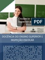 Pós-Graduação em Docência do Ensino Superior e Inspeção Escolar - Grupo Educa+ EAD