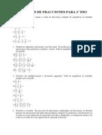 Ejercicios de Fracciones Para 1 Eso