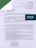 DU Letter to Principals, 19.10.2013