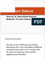 short stature.
