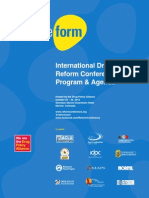 International Drug Policy Reform Conference Program and Agenda