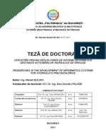 TEZĂ DE DOCTORAT - CERCETĂRI PRIVIND DEZVOLTAREA DE SISTEME INFORMATICE.pdf
