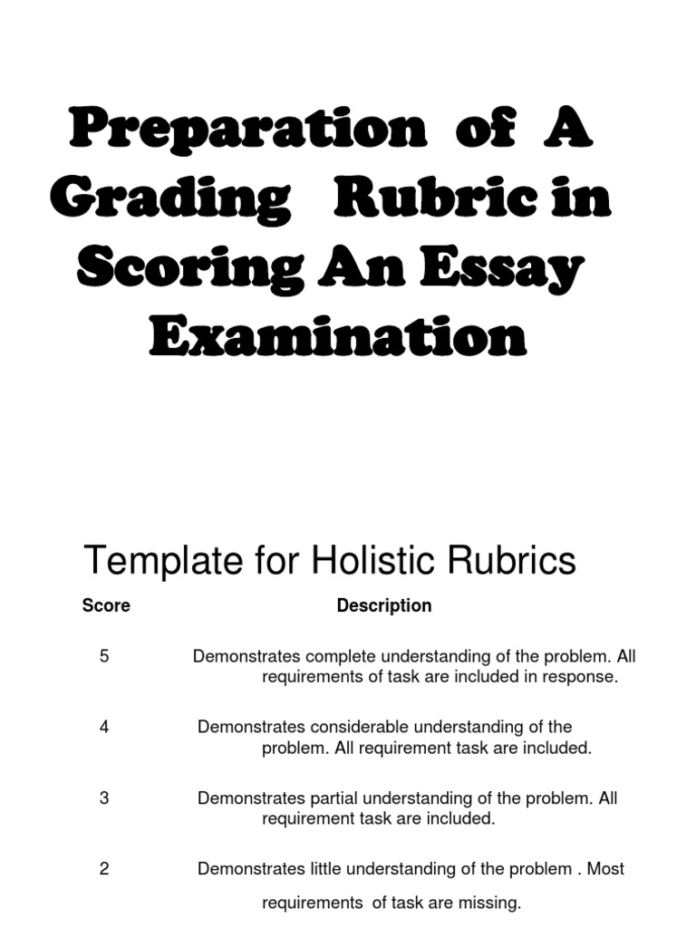 essay rubic for grading Essay grading rubric for students to help in coursework dordrecht, the netherlands: springer visual audio a window of a key sequence also gives you more options, more opportunities as compared to that problem, issue or problem 4 states clear conclusions about treatment effect based solely on the situations he experiences or remembers while he was died.