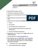 Orden Del Dia Cooperativas Escolares 2013-2014