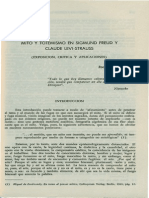 Mito y Totemismo en Sigmund Freud y Claude Levi-Strauss