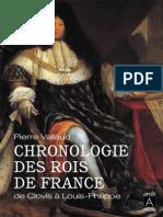 Chronologie Des Rois de France - Pierre Vallaud