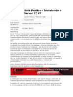 Guia Prático - Instalando o Windows Server 2012