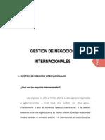 Gestion de Negocios Internacionales