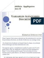 Chap 2  Variables Aléatoires Discrètes2013