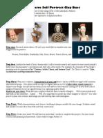 expressive self portrait clay bust project description
