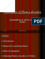 Assessment of fluency disorders. / KUNNAMPALLIL GEJO JOHN