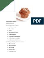 Cupcakes de Nocilla y Avellanas