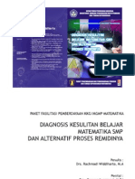 Diagnosis Kesulitan Belajar Matematika SMP