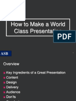How to Make a World Class Presentation1.ppt