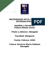 Matrimonio en El Derecho Internacional