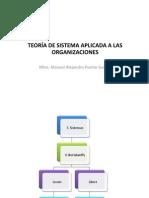 TEORÍA DE SISTEMAS APLICADA A LAS ORGANIZACIONES