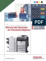 E-STUDIO2500c 3500c 3510c Manual de Operador Funciones Basicas Ver02