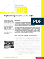 Traffic Calming Measures and Bus Traffic