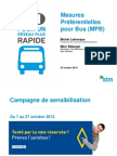 Reserved bus lanes and priority measures for buses in Montreal