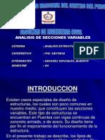 Barras de Secciones Variables