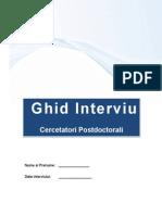 Ghid Interviu Cercetatori Postdoctorali