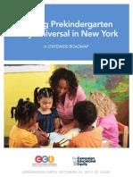 A new plan for universal pre-kindergarten