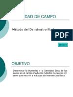 DENSIDAD DE CAMPO, MÉTODO DENSÍMETRO NUCLEAR