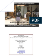 Final Report on Election Related Violence