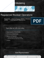 Regularized Boolean set Operation on Solids in Computer Graphics