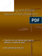 Dealing With Ethical Issues in the Classroom