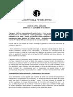 Fiche no 5 - Cour d'appel de Paris 16 octobre 2013 - Transport CMR - Article 17.2 - Action en garantie différente de l'action directe - Indépendance des contrats de transport et de vente