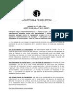 Fiche No 7 - Cour d'Appel de Lyon 29 Juillet 2013